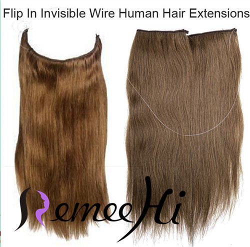 Wire Hair Extensions Reviews | Remeehi 120g Thick Human Remy Secret Invisible Wire Secret Halo Hair